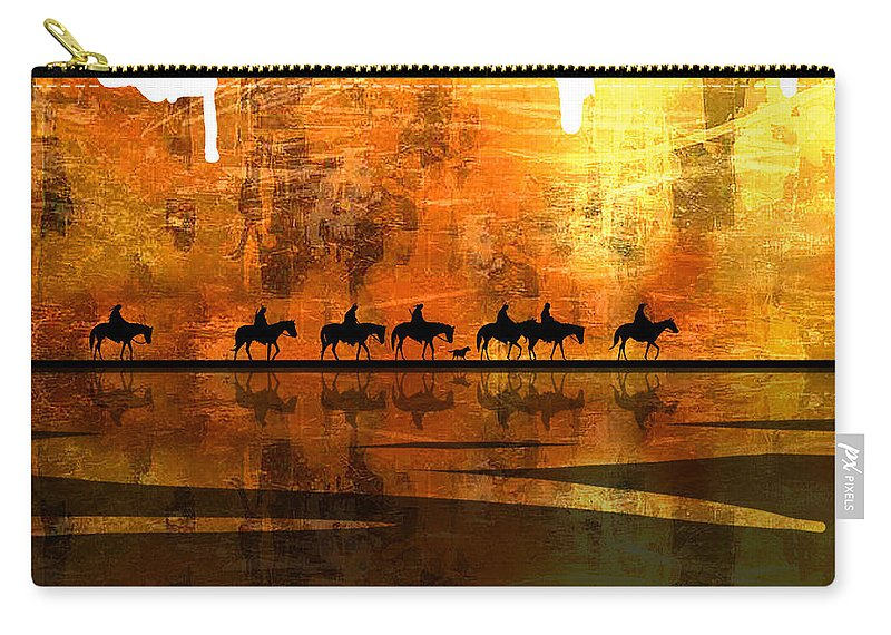 Native Americans Carry-all Pouch featuring the painting The Weary Journey by Paul Sachtleben