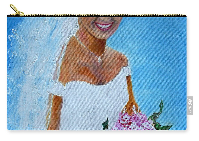 Wedding Carry-all Pouch featuring the painting the wedding day of my daughter Daniela by Helmut Rottler