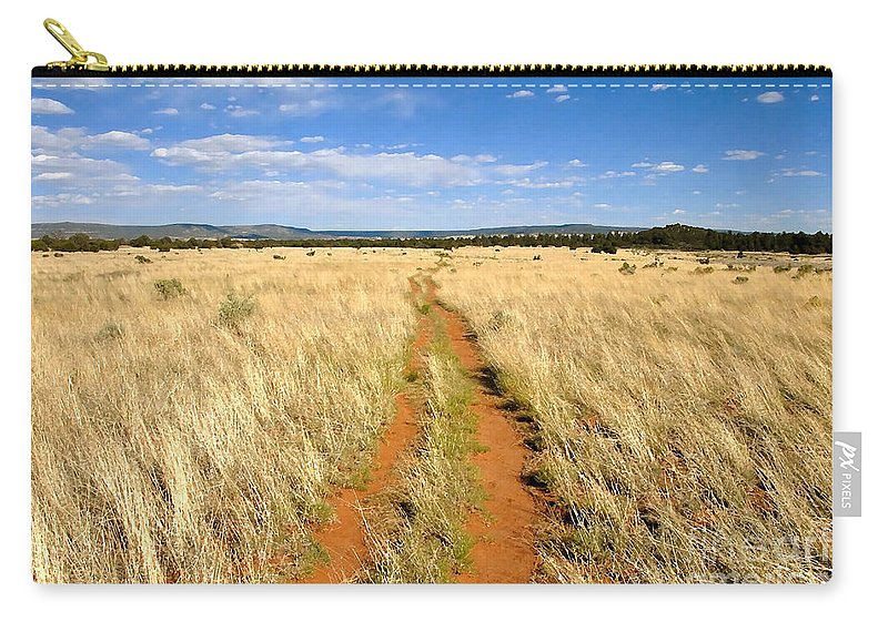 Trail Carry-all Pouch featuring the photograph The Westward Trail by David Lee Thompson