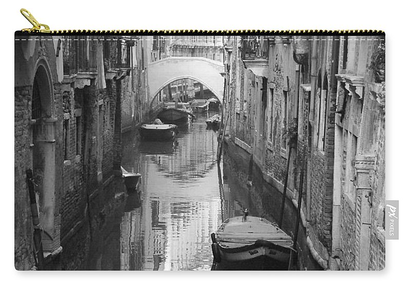 Venice Carry-all Pouch featuring the photograph The White Bridge by Donna Corless