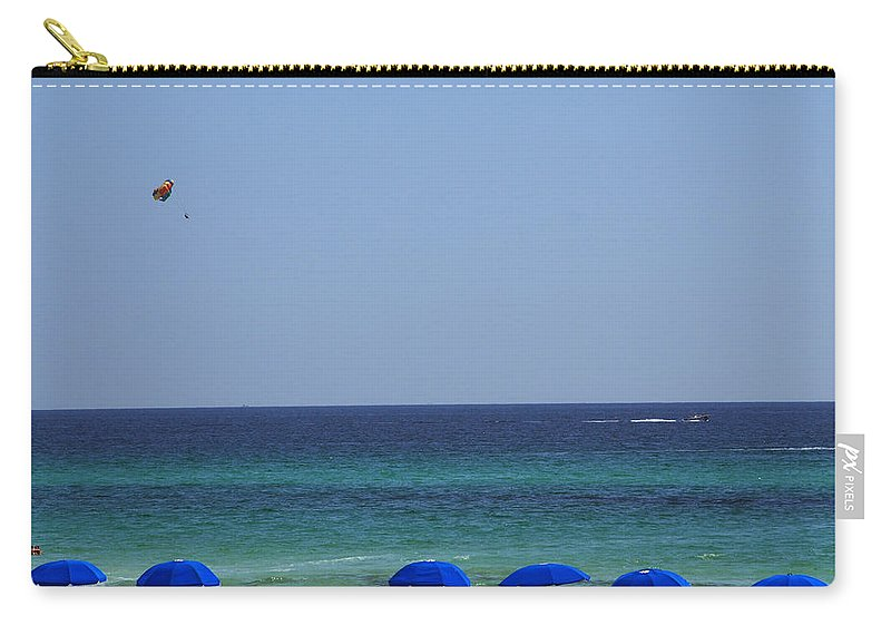 Beach Scene Carry-all Pouch featuring the photograph The White Panama City Beach - Before The Oil Spill by Susanne Van Hulst