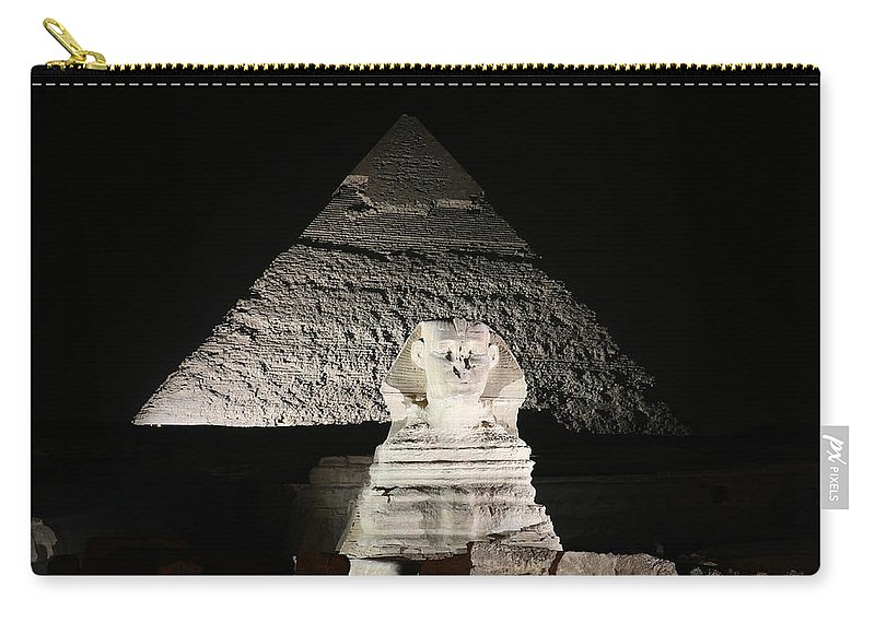 Sphynx Carry-all Pouch featuring the photograph The White Sphynx by Donna Corless