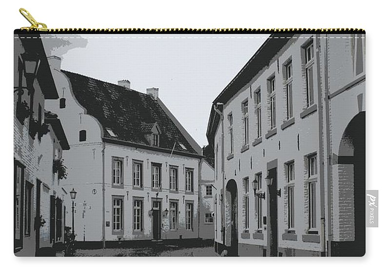 Gray And White Carry-all Pouch featuring the photograph The White Village - Digital by Carol Groenen