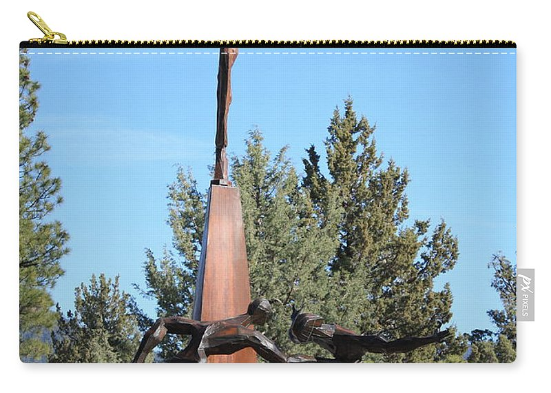 Living Memorial Sculpture Garden Carry-all Pouch featuring the photograph The Why Group by Carol Groenen