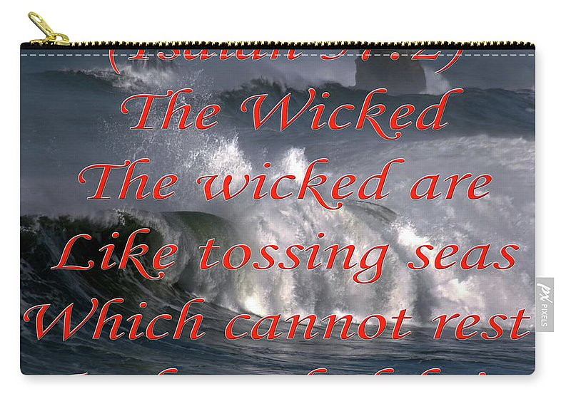 Poem Carry-all Pouch featuring the digital art The Wicked by Day Williams