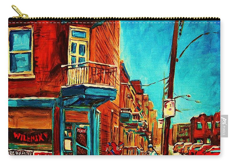 Wilenskys Doorway Carry-all Pouch featuring the painting The Wilensky Doorway by Carole Spandau