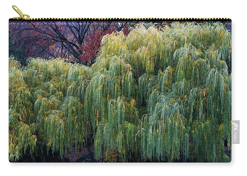 New York City Carry-all Pouch featuring the photograph The Willows Of Central Park by Lorraine Devon Wilke