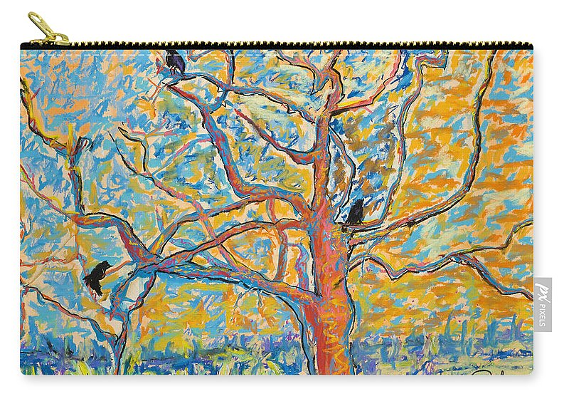 Abstract Painting Carry-all Pouch featuring the mixed media The Wind Dancers by Pat Saunders-White
