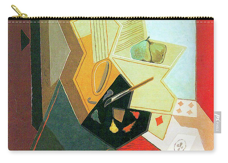 Window Carry-all Pouch featuring the painting The Window Of The Painter by Juan Gris
