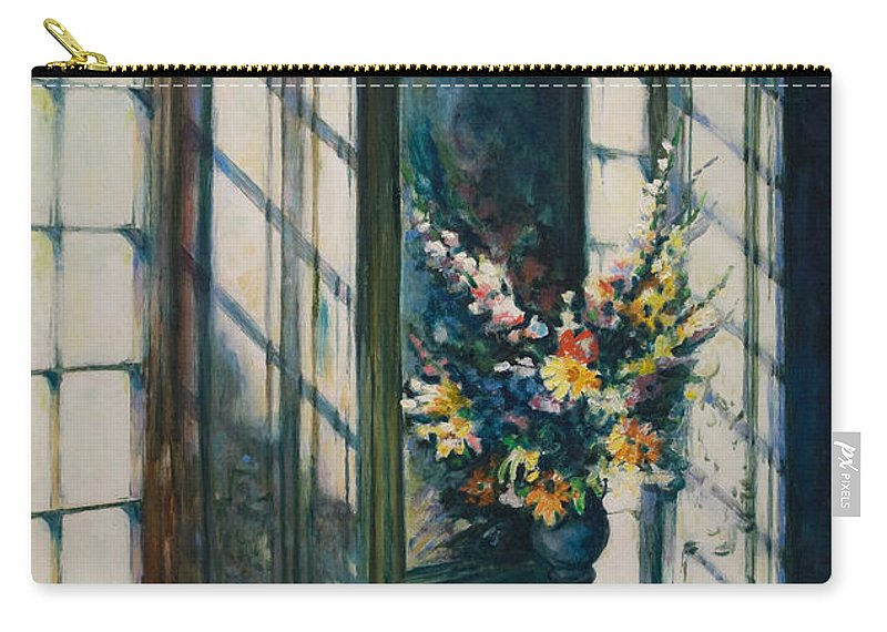 Window Carry-all Pouch featuring the painting The Window by Rick Nederlof