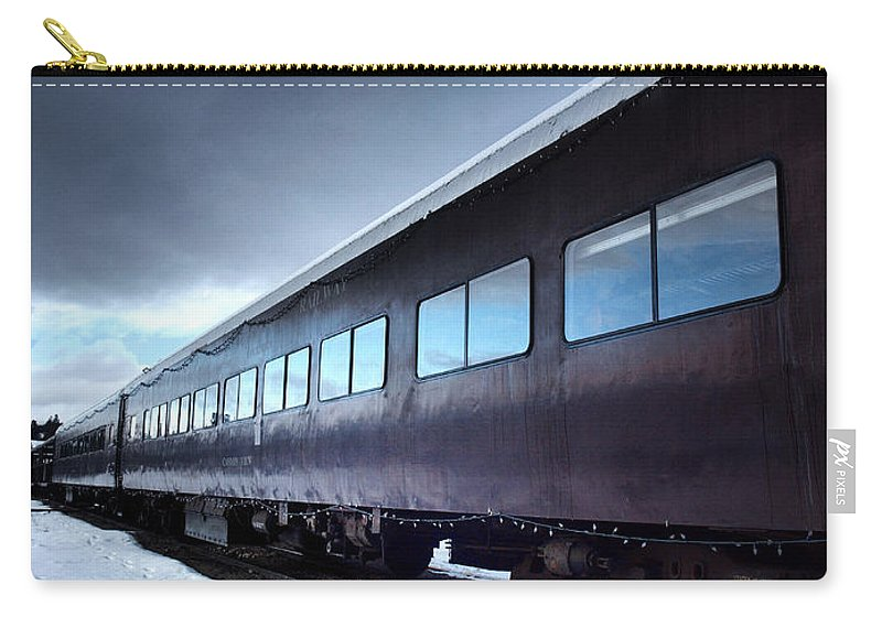 Train Carry-all Pouch featuring the photograph The Windows Of The Train by Tara Turner