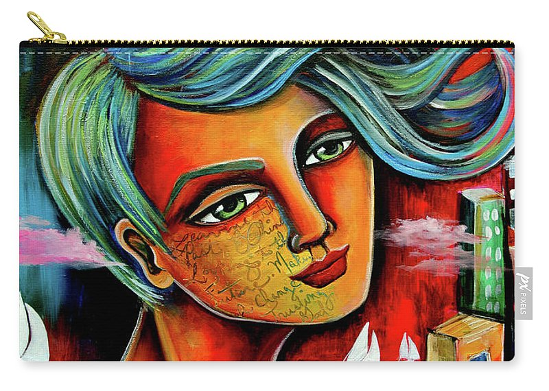 Art For Saleart Prints Carry-all Pouch featuring the painting The Winds Of Change by Jennifer Main