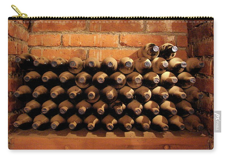 Colchagua Carry-all Pouch featuring the photograph The Wine Cellar II by Brett Winn