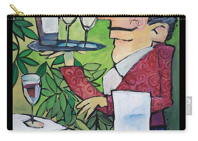 Wine Carry-all Pouch featuring the painting The Wine Steward - Poster by Tim Nyberg