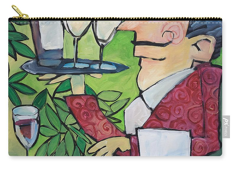 Wine Carry-all Pouch featuring the painting The Wine Steward by Tim Nyberg