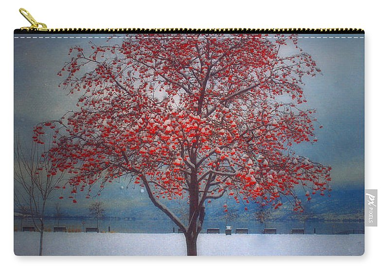 Tree Carry-all Pouch featuring the photograph The Winter Berries by Tara Turner