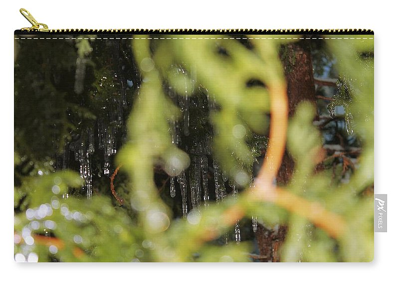 Perspective Carry-all Pouch featuring the photograph The Winter Hides Beyond The Green by Mario MJ Perron