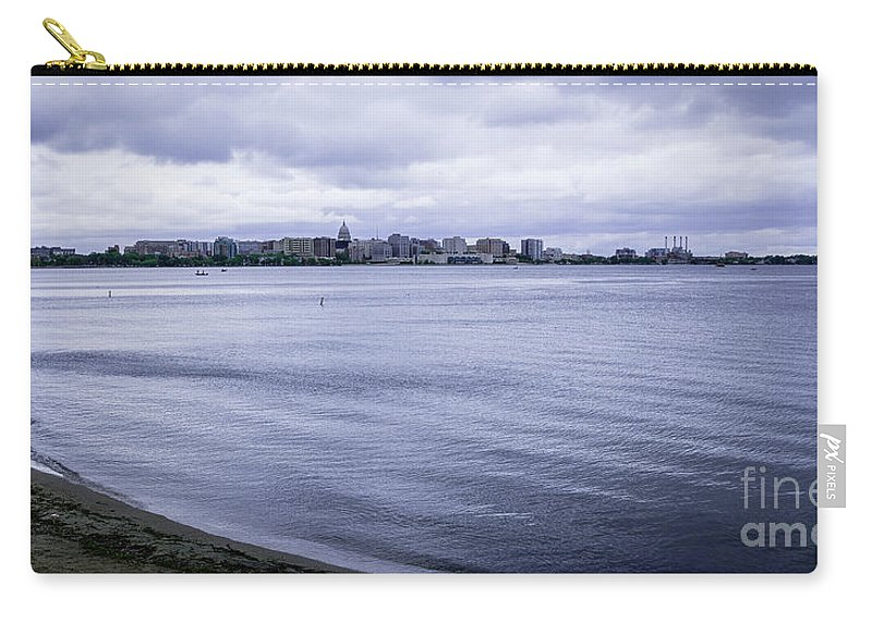 Madison Carry-all Pouch featuring the photograph The Wisconsin State Capitol by Deborah Klubertanz