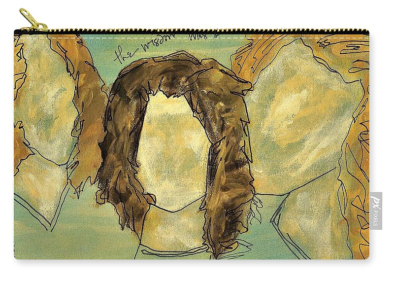 Painting Carry-all Pouch featuring the painting The Wisdom Was Always There by Hew Wilson