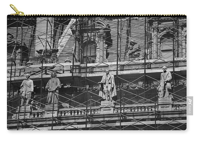 Black And White Carry-all Pouch featuring the photograph The Wiseguys by Rob Hans