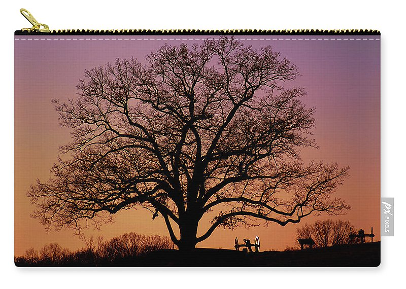Gettysburg Carry-all Pouch featuring the photograph The Witness by Jen Goellnitz