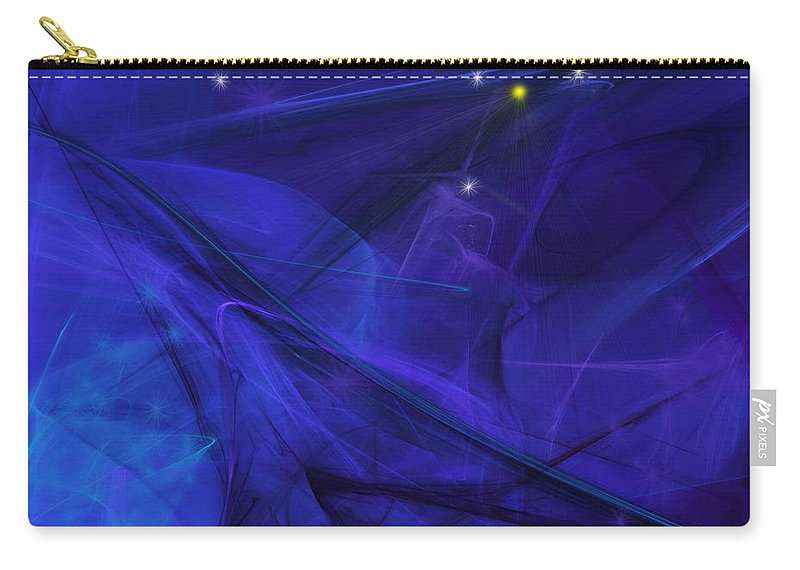 Fine Art Carry-all Pouch featuring the digital art The Wizard Mid-incantation by David Lane