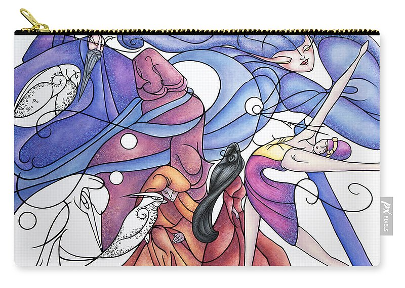 Wizard Carry-all Pouch featuring the painting The Wizards Daughter by Judy Henninger