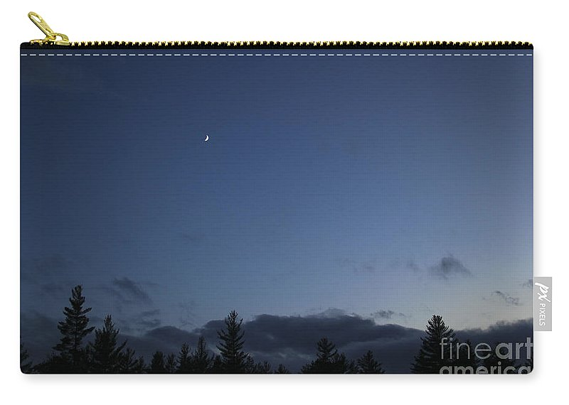 Moon Carry-all Pouch featuring the photograph The Woods And The Moon 3 by Marina McLain