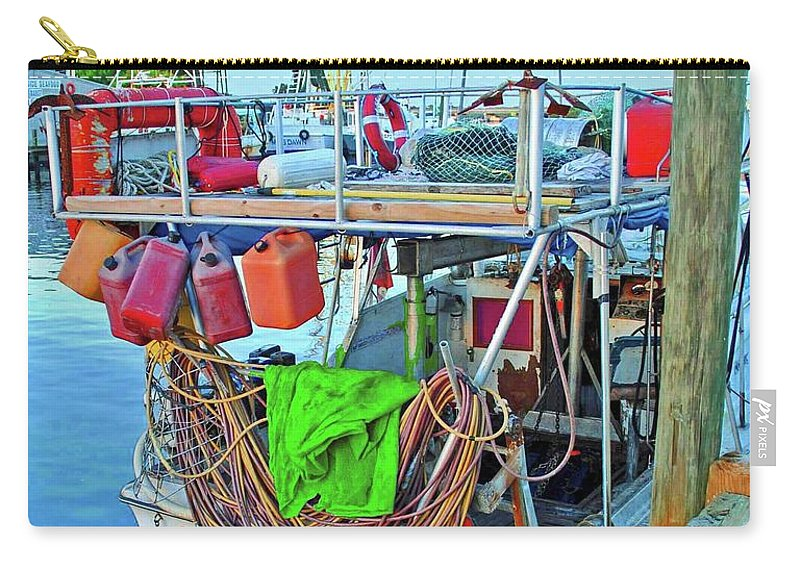 Boat Carry-all Pouch featuring the photograph The Work Boat by Jost Houk