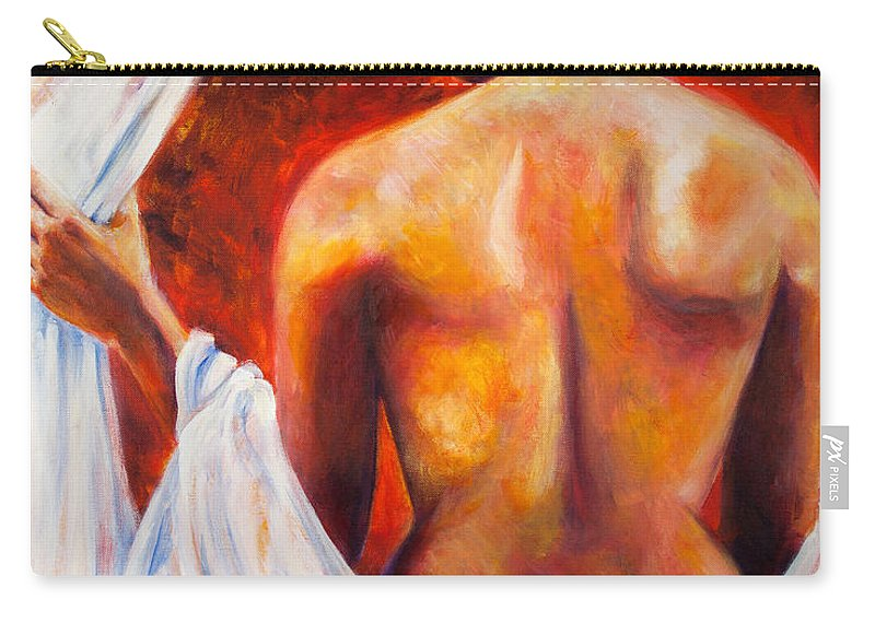 Nude Carry-all Pouch featuring the painting The World At Bay by Jason Reinhardt