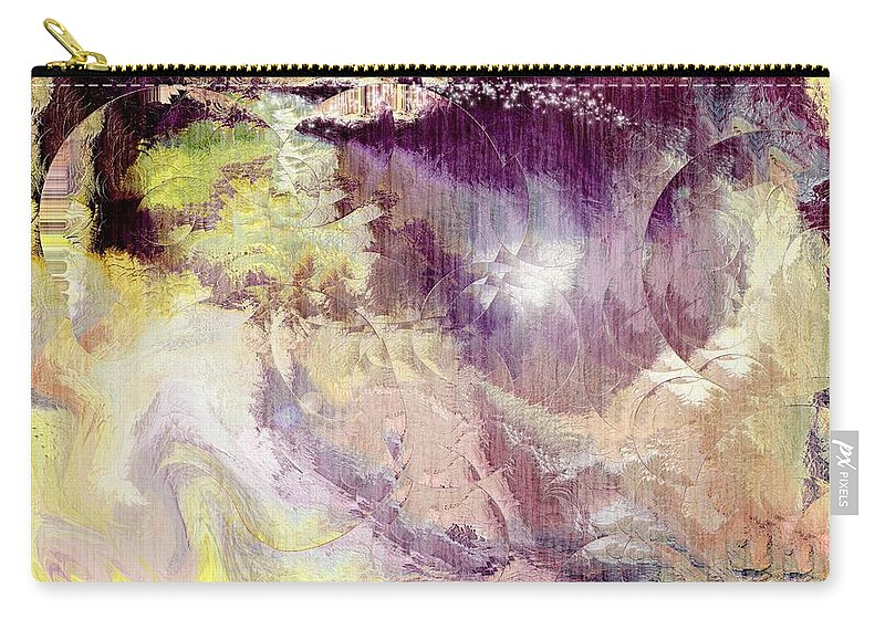 Fantansy Art Carry-all Pouch featuring the digital art The World Of Magic by Linda Sannuti