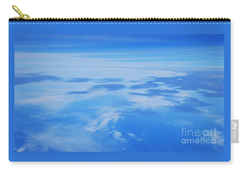 Aerial Art Feng Shui Minimalism Serenity Meditation Spiritual Cloud Blue Stock Shot Nature Metal Frame Poster Print Wood Print Canvas Print Available On Greeting Cards Mugs Shower Curtains Tote Bags T Shirts Pouches Weekender Tote Bags Fleece Blankets And Yoga Mats Carry-all Pouch featuring the photograph The World Up There # 2 by Marcus Dagan