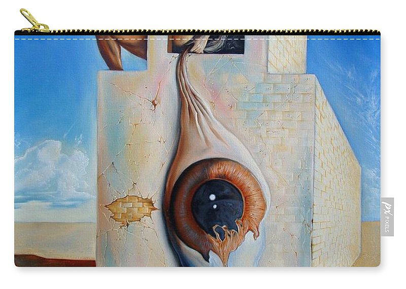Carry-all Pouch featuring the painting The Worst Blind by Darwin Leon