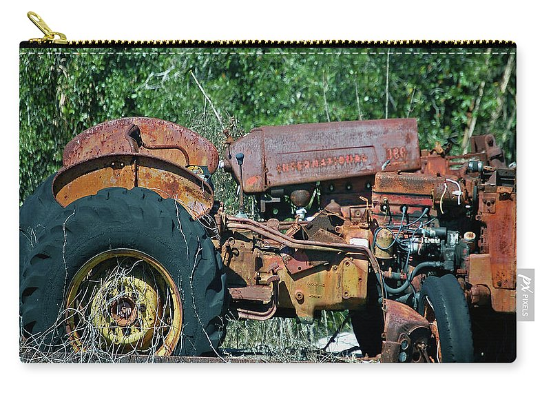 Tractor Carry-all Pouch featuring the digital art The Wrong Side Of The Tracks by DigiArt Diaries by Vicky B Fuller