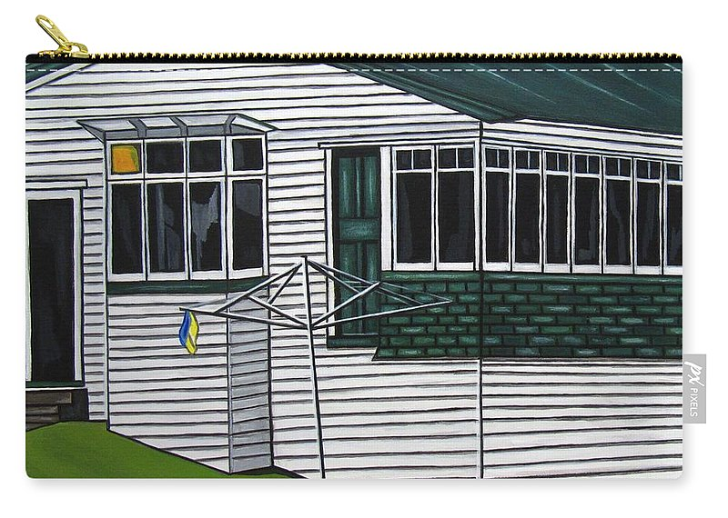 Cottage Paintings Carry-all Pouch featuring the painting The Yates Place by Sandra Marie Adams