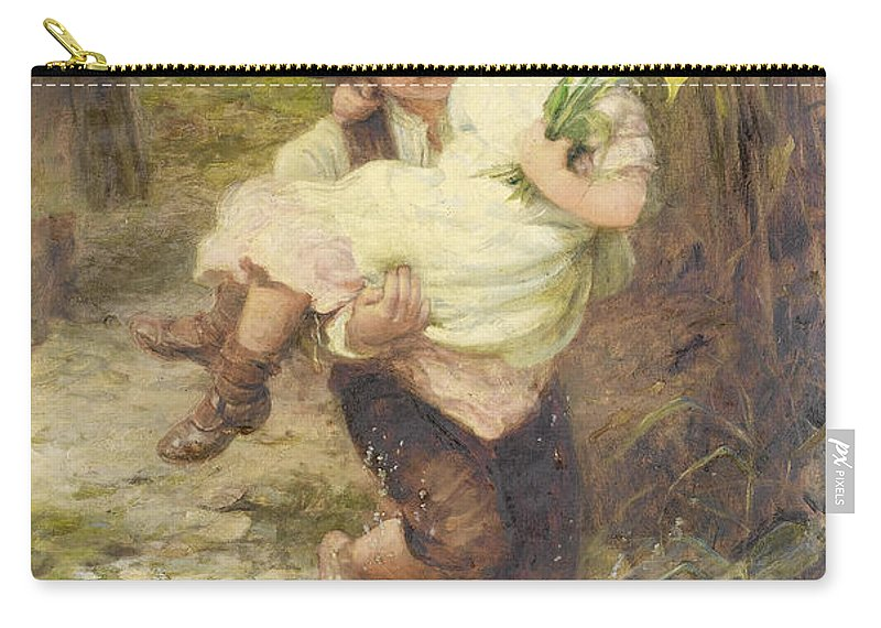 Fred Morgan Carry-all Pouch featuring the digital art The Young Gallant by Fred Morgan