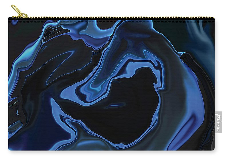 Art Carry-all Pouch featuring the digital art The Young Mermaid by Rabi Khan
