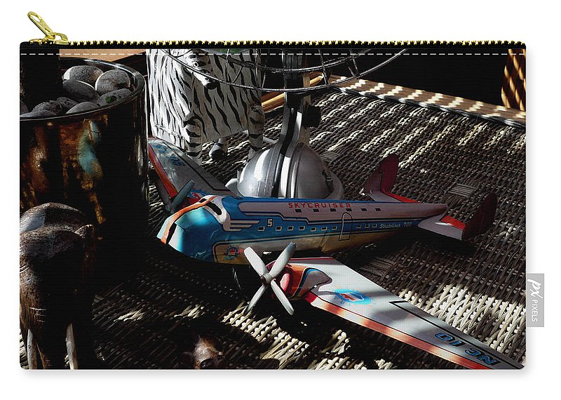 Still Life Carry-all Pouch featuring the photograph The Zebra In Colour by Charles Stuart