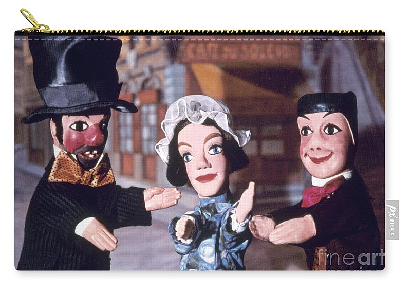 Entertainment Carry-all Pouch featuring the photograph Theater: Puppet Characters by Granger