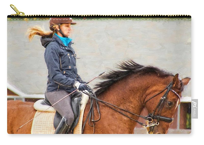 Alicegipsonphotographs Carry-all Pouch featuring the photograph Their Manes Flying by Alice Gipson