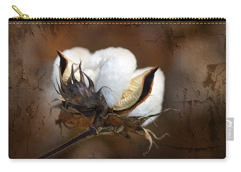 Cotton Carry-all Pouch featuring the photograph Them Cotton Bolls by Kathy Clark