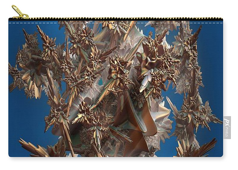 Fractal Carry-all Pouch featuring the digital art Theme Variation 3-angelic by Ron Bissett