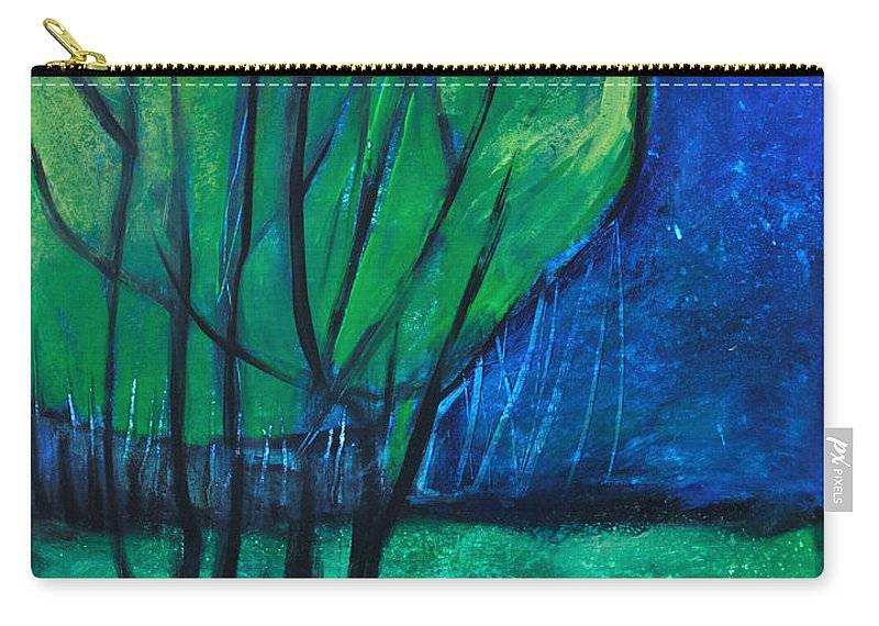 Trees Carry-all Pouch featuring the painting Then Came Evening by Tim Nyberg
