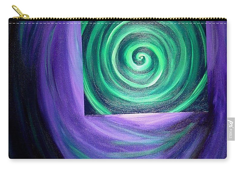 Original Carry-all Pouch featuring the painting Then There Was Green by Melissa Joyfully