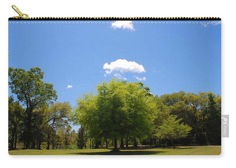 Photography Carry-all Pouch featuring the photograph There Are Some Clouds by Susanne Van Hulst