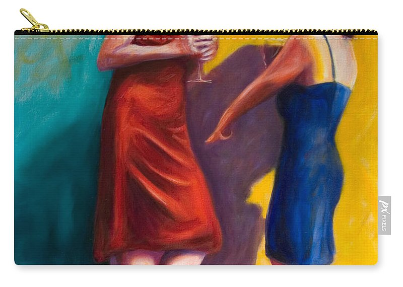 Figurative Carry-all Pouch featuring the painting There by Shannon Grissom