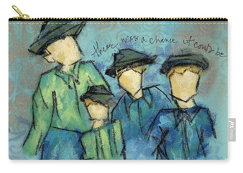 Figures Carry-all Pouch featuring the painting There Was A Chance It Could Be by Hew Wilson