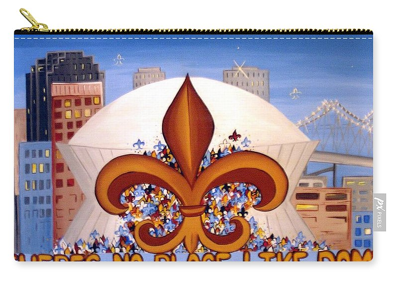 Superdome Carry-all Pouch featuring the painting There's No Place Like Dome by Valerie Carpenter