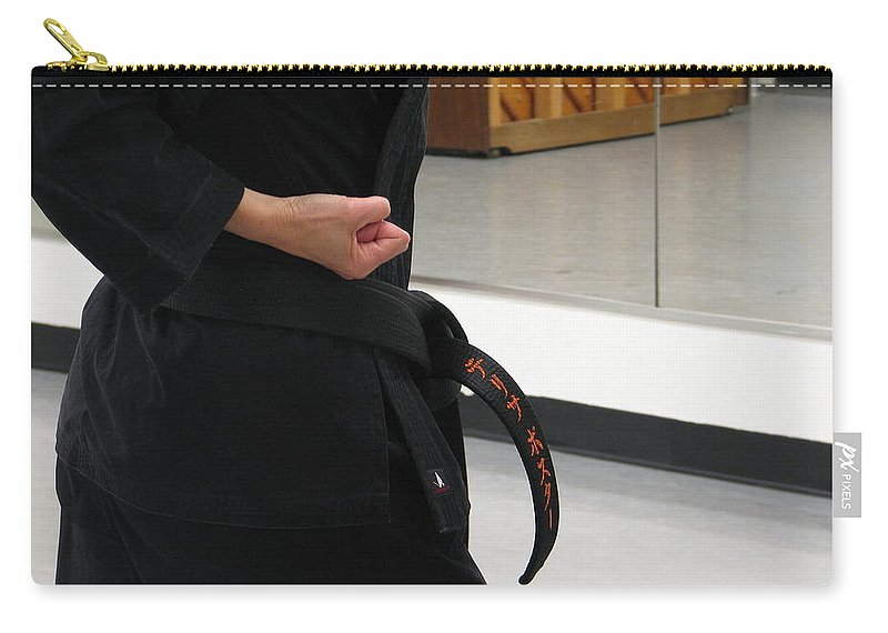 Karate Carry-all Pouch featuring the photograph Theresa by Kelly Mezzapelle