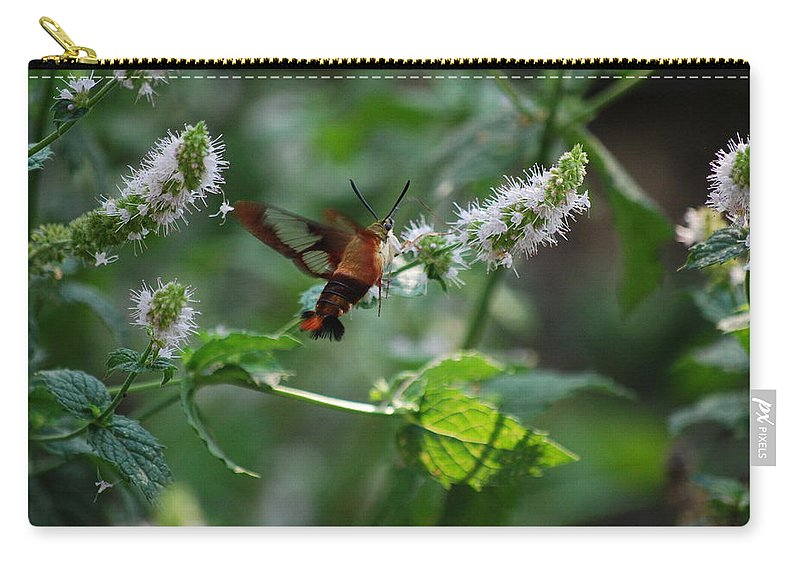 Moth Carry-all Pouch featuring the photograph These Are My Favorite by Lori Tambakis